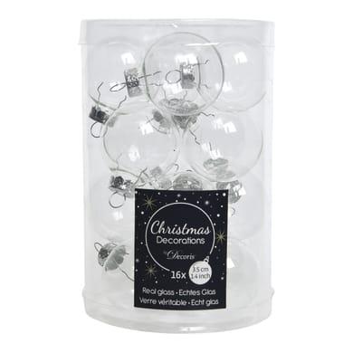 Sfera natalizia in vetro confezione da 16 pezzi