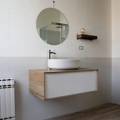 Mobile bagno Neo frame bianco L 120 cm