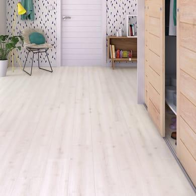 Pavimento laminato Amalia Sp 8 mm bianco