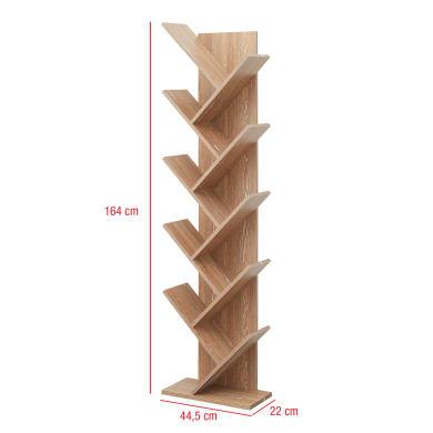 Scaffale in legno in kit 10 ripiani L 44.5 x P 22 x H 164 cm legno