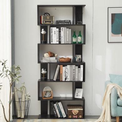 Libreria L 80 x P 24 x H 190 cm nero