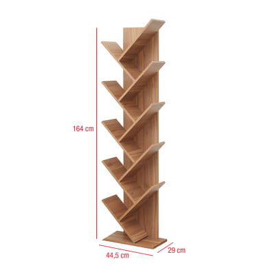 Scaffale in legno in kit 10 ripiani L 44.5 x P 22 x H 164 cm rovere