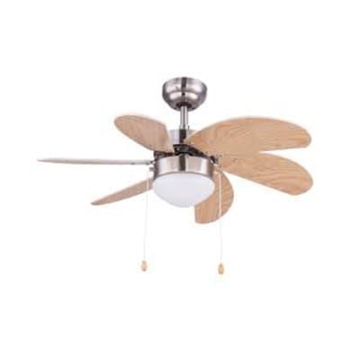 Ventilatore da soffitto Ventilatore Rivaldo, ciliegio/faggio