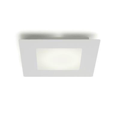 Plafoniera Hunk LED integrato bianco, in vetro,