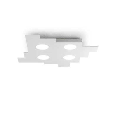 Plafoniera classico Wall bianco, in vetro,
