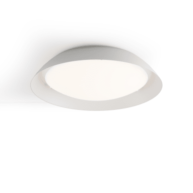 Plafoniera Giove LED integrato bianco, in vetro,