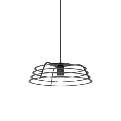 Lampadario Design Ra antracite in vetro, D. 40 cm