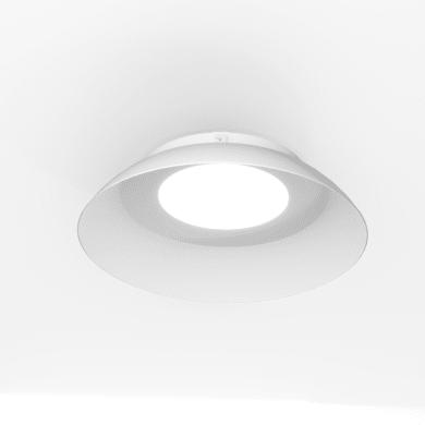 Plafoniera Marte LED integrato bianco, in vetro,