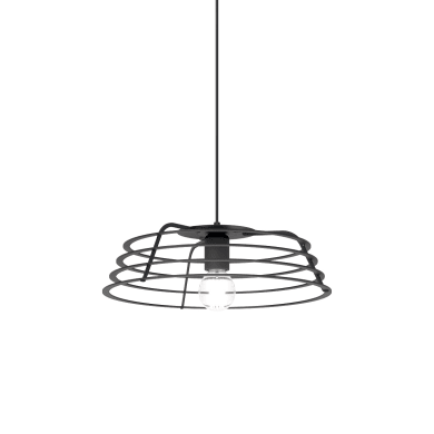 Lampadario Design Ra antracite in vetro, D. 60 cm