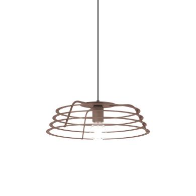 Lampadario Design Ra corten in vetro, D. 40 cm