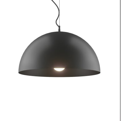 Lampadario Design Emisfero antracite in metallo, D. 33.5 cm, 3 luci