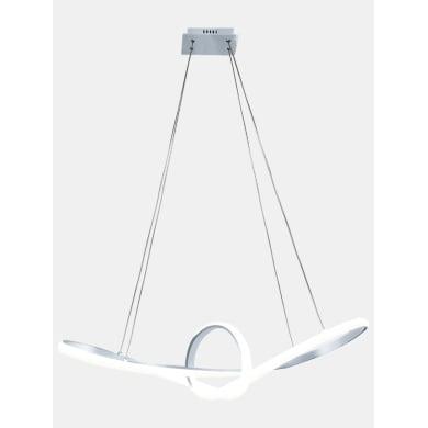 Lampadario Moderno Adelaide LED integrato cromo, in alluminio, L. 81 cm