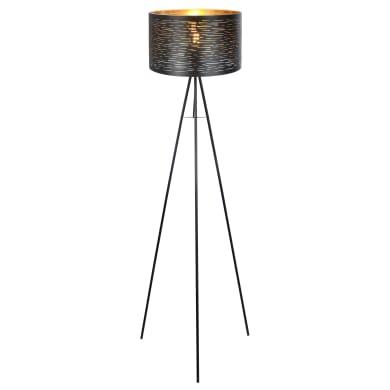 Lampada da terra nero, in metallo, H153cm, GLOBO