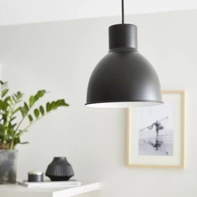 Lampadario Scandinavo Melga nero in metallo, D. 20 cm, INSPIRE