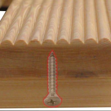 Pedana in legno  naturale 68 x 68 cm