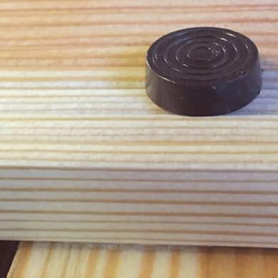 Pedana in legno  naturale 59 x 59 cm