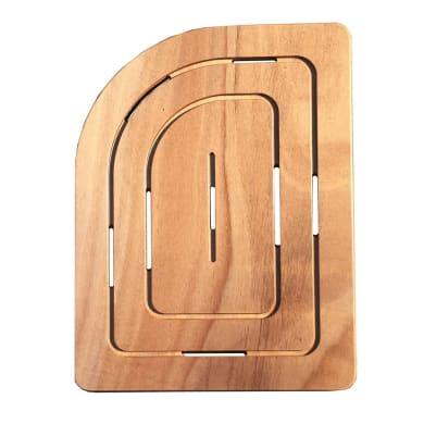 Pedana in legno  naturale 55 x 75.5 cm