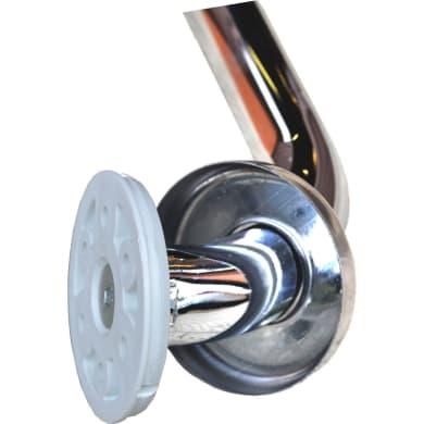 Maniglione in acciaio L 12 cm argento