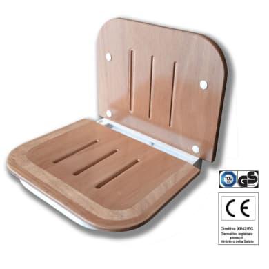 Sedile per doccia in legno bianco