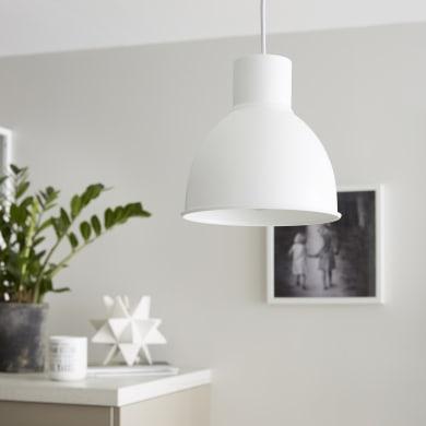 Lampadario Scandinavo Melga bianco in metallo, D. 20 cm, INSPIRE