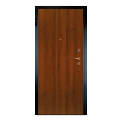 Porta blindata Super noce L 80 x H 210 cm sinistra