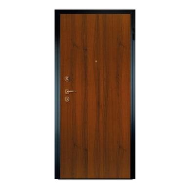 Porta blindata Super noce L 90 x H 210 cm destra