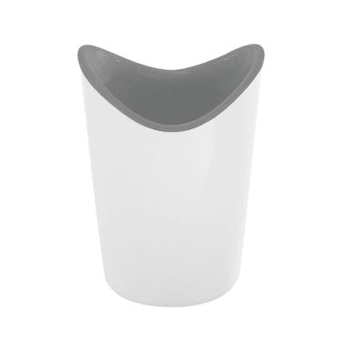 Porta spazzolini in resina termoplastica bianco/grigio