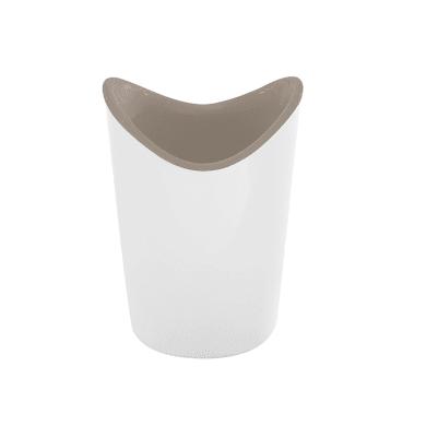 Porta spazzolini in resina termoplastica bianco/beige