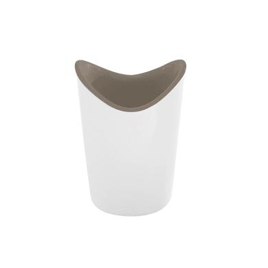 Porta spazzolini in resina termoplastica bianco/tortora