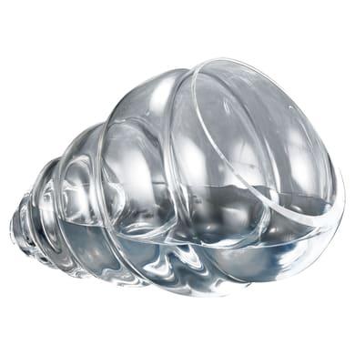 Vaso in vetro Conchiglia L 35 x H 22 cm Ø 16 cm