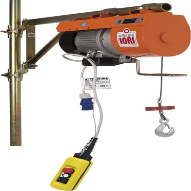 Paranco elettrico Monopulsante portata max 150 kg cavo da 40 m