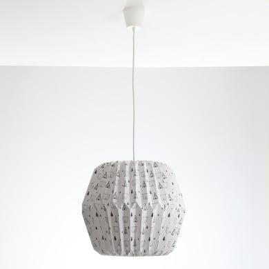 Lampadario Pop Tippi bianco  e  grigio in carta, D. 40 cm, LUSSIOL