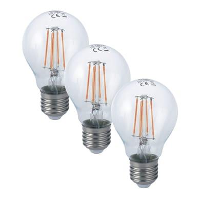 Lampadina LED filamento, E27, Goccia, Trasparente, Luce calda, 8W=1055LM (equiv 80 W), 300°