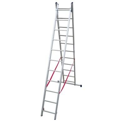 Scala a sfilo in alluminio 11+11 gradini per lavori fino a 6 m