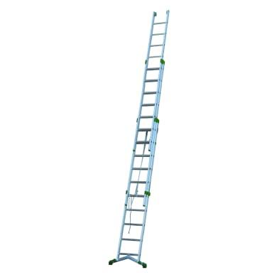Scala a sfilo in alluminio 10+11+11 gradini per lavori fino a 9 m