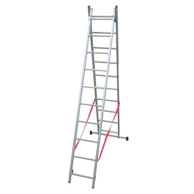 Scala a sfilo in alluminio 10+10 gradini per lavori fino a 5.44 m