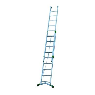 Scala a sfilo in alluminio 9+10 gradini per lavori fino a 6 m