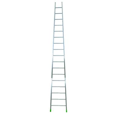 Scala ad appoggio in alluminio 17 gradini per lavori fino a 4.88 m