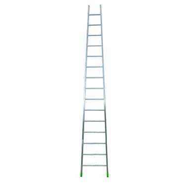 Scala ad appoggio in alluminio 15 gradini per lavori fino a 6 m
