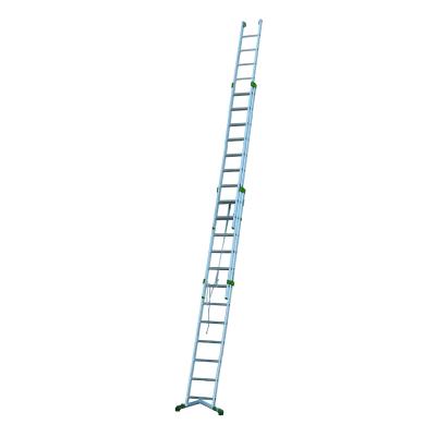 Scala a sfilo in alluminio 12+13+13 gradini per lavori fino a 10.8 m