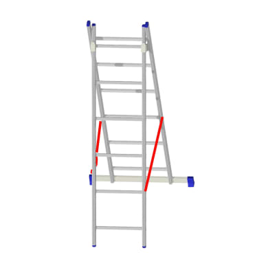 Scala a sfilo in alluminio 6+6 gradini per lavori fino a 3.76 m