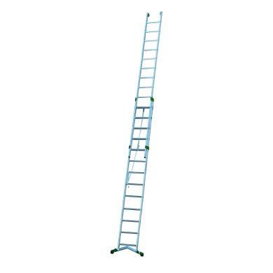 Scala a sfilo in alluminio 13+14 gradini per lavori fino a 8.4 m