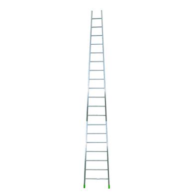 Scala ad appoggio in alluminio 19 gradini per lavori fino a 7.96 m