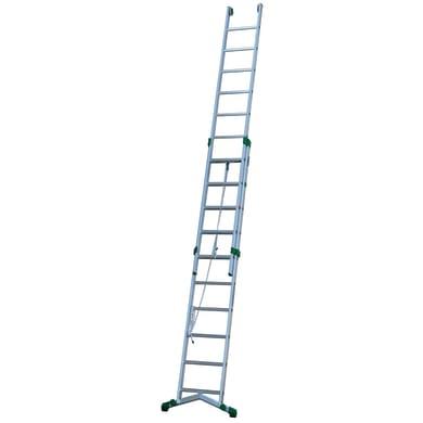 Scala a sfilo in alluminio 10+11 gradini per lavori fino a 6.6 m