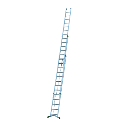Scala a sfilo in alluminio 13+14+14 gradini per lavori fino a 11.7 m