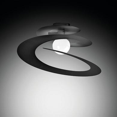 Plafoniera moderno Spirale grafite, in ferro,  D. 50 cm