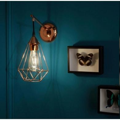 Applique design Byron rame, in metallo, 15.5x27.5 cm, INSPIRE