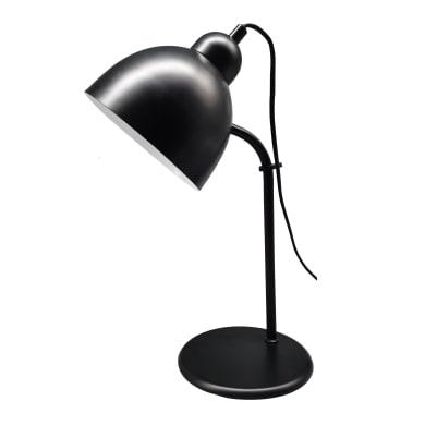 Lampada da scrivania Leo nero, in metallo, E27 MAX25W IP20 INSPIRE