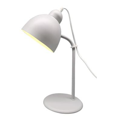 Lampada da scrivania Leo grigio, in metallo, E27 IP20 INSPIRE