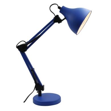 Lampada da scrivania Ennis blu, in metallo, E27 MAX40W IP20 INSPIRE